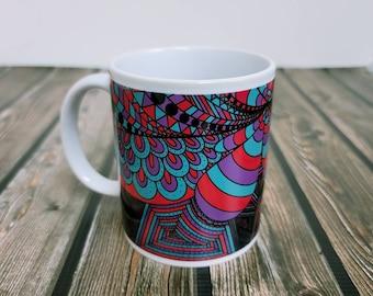 Busy Minds Ceramic Mug/ StickersandMorebyLB/ Layla Blossoms/ Mug handmade/ Mug Art