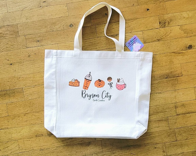 Punkin tote bag/ canvas tote/ large tote/ stickersandmorebylb/ layla blossoms