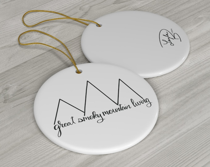 Great Smoky Mountain Living Round Ceramic Ornaments