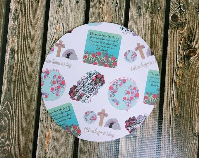 Faith pt 15 Mousepad/ Christian/ Layla Blossoms/ StickersandMoreByLB