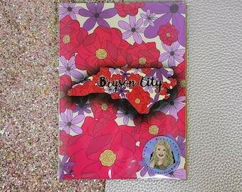 Bryson city floral / Art Print/ Layla Blossoms/ StickersandMoreByLB/ Art Decor/ Home Decor