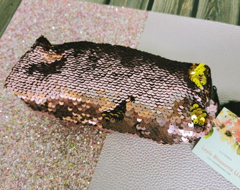Sequin Sparkle pencil pouch/ Sequin/ Pouch / Layla Blossoms