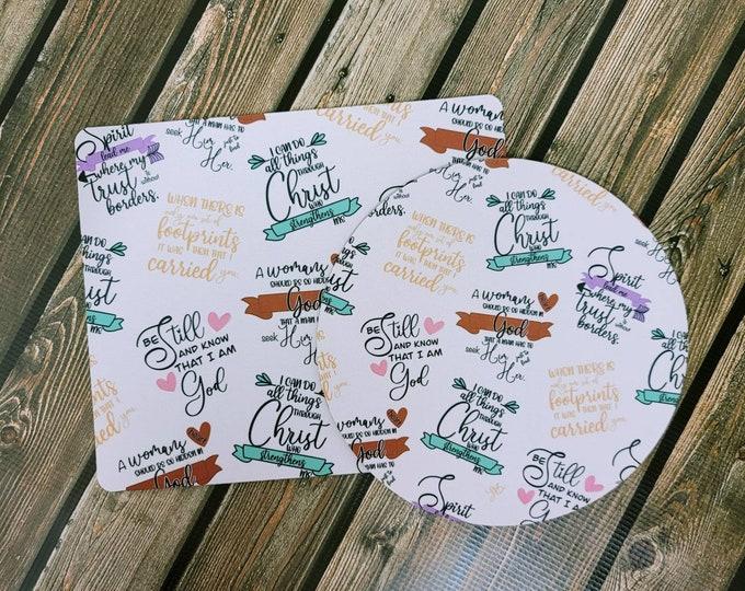 Faith pt 3 Mousepad/ Christian/ Layla Blossoms/ StickersandMoreByLB