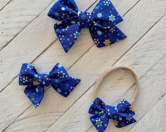 Star of David Hanukkah hair bow or headband, Chanukah Gift, Jewish gift, Holiday Headband, high holidays, Jewish gift for kids