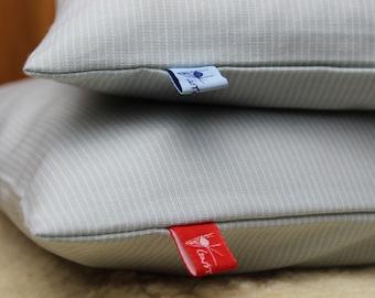 Pine cushion organic 30x 40 cm, linen opticcloud cloud