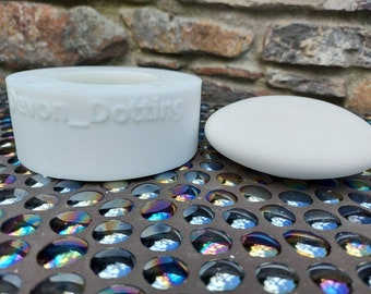 120mm flat mandala dot art stone silicone mold
