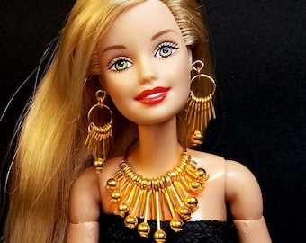 """Fashion Handmade doll jewelry necklace earrings fits 11.5/"""" doll 908A"""