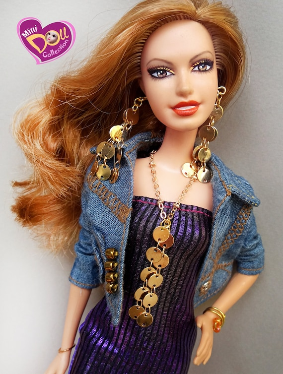 NEW PLASTIC PURPLE CHAIN LINK NECKLACE FOR BARBIE DOLL