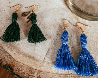 Natalie Macrame Knot Tassel Earrings   Macrame Earrings   Dangle Earrings