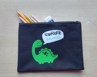 Personalised - Christmas Gift Birthday Dinosaur T-Rex Design Pencil Case