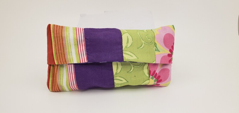 Bags /& Purses Floral Variety Cotton Fabric TissueToiletry Purse Insert Fold Over Flap Closure