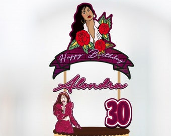 Selena, Selena Cake Topper, Selena Banner, Selena Birthday, Selena Party, Selena Party Supplies, Selena Party Decor, Selena Birthday Topper