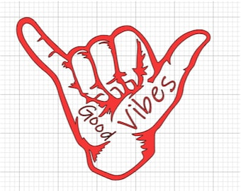 Good Vibes Decal- peel and stick (for your car window, bumper, motorcycle, etc.)