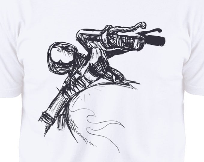 Motorcycle handlebars. Premium Short Sleeve T-Shirt
