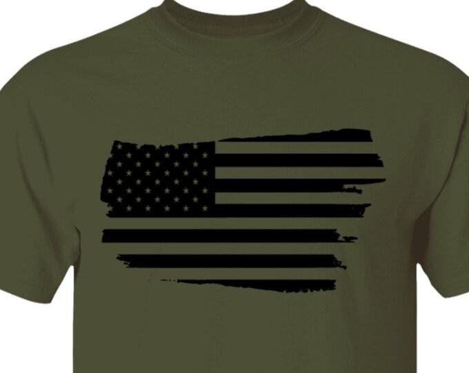 Distressed American Flag 5.3 oz. T-Shirt