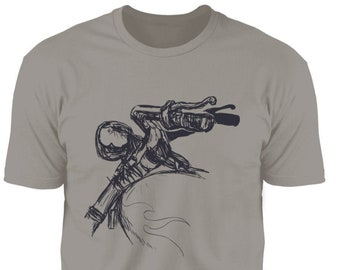 Motorcycle handlebars. Premium Short Sleeve T-Shirt