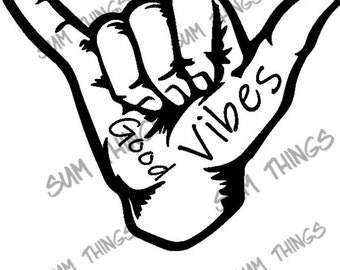 Good Vibes decal- digital files SVG, PNG, JPEG.