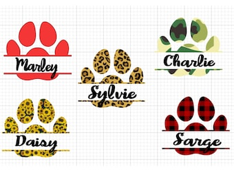 Personalized Paw Print- Peel and stick decals with high quality vinyl. Perfect for car windows.
