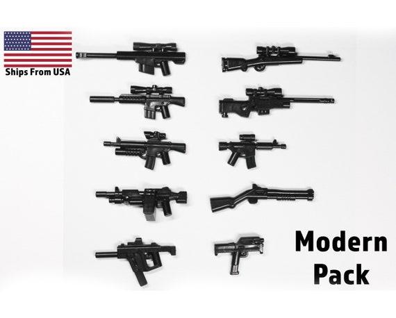 Gun lot World War 2 Machine Rifle Future Weapons compatible w// Lego