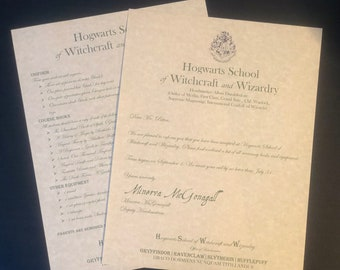 Custom Hogwarts Acceptance Letter.Personalized Hogwarts Acceptance Letter Etsy