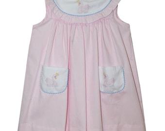 Birthday Applique Pink Pique Girls Float Dress