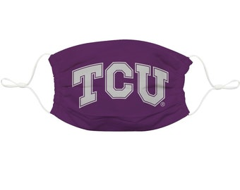 TCU purple game day spiral tie dyed t shirt