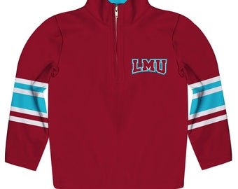 Loyola Marymount Lions Vive La Fete Boys Game Day Red Short Sleeve Onesie Logo Bodysuit