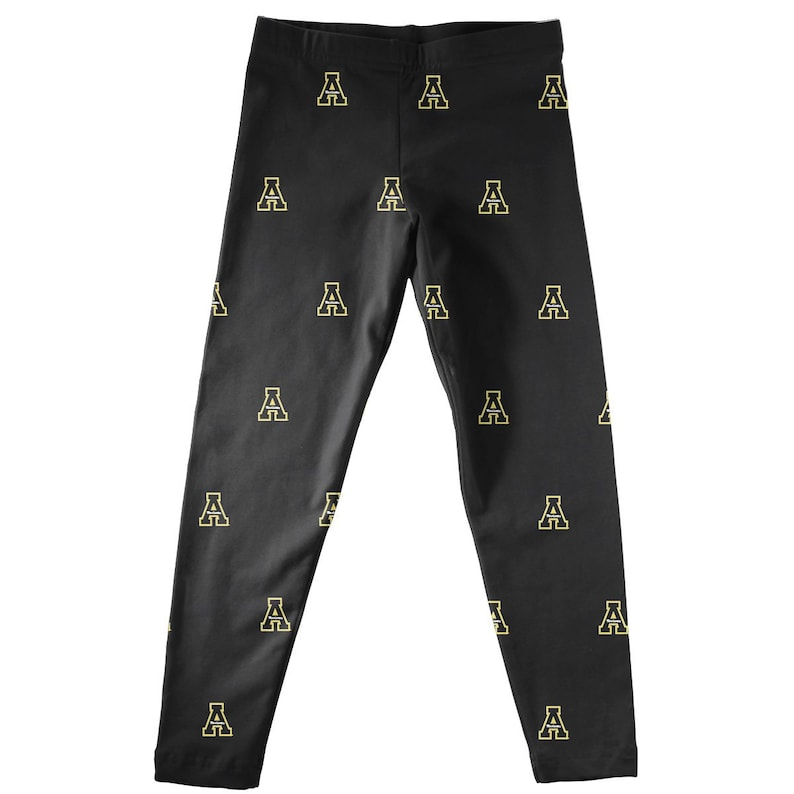Appalachian State Mountaineers Leggings Black All Over Logo