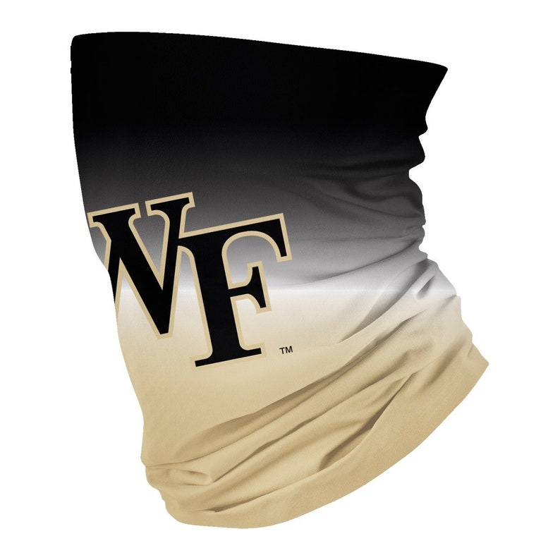 Wake Forest Demon Deacons WF Neck Gaiter Degrade Black and Gold