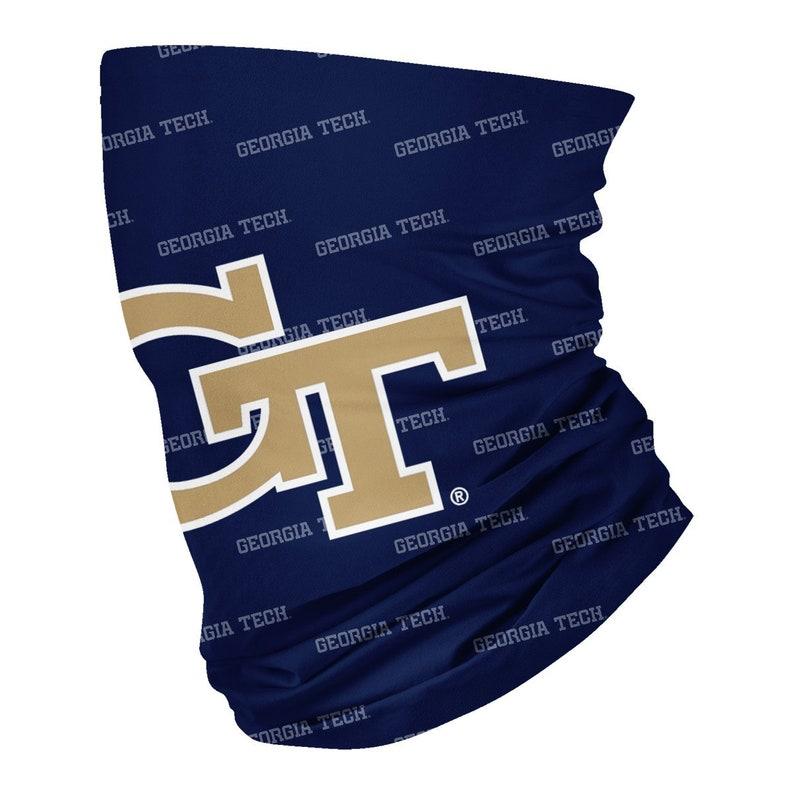 Georgia Tech Yellow Jackets Neck Gaiter Blue All Over Logo