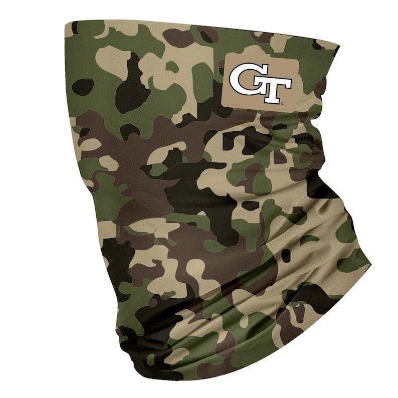 Georgia Tech Yellow Jackets Neck Gaiter Camo Green