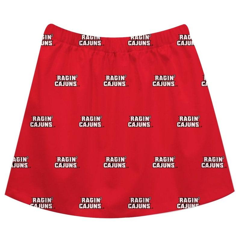 Louisiana-Lafayette Ragin Cajuns Print Red Skirt