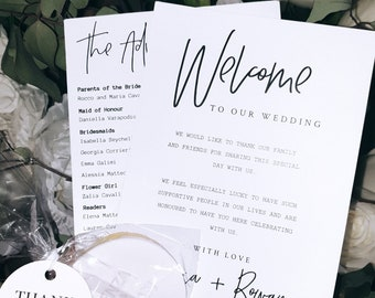 Double Sided Wedding Ceremony Cards