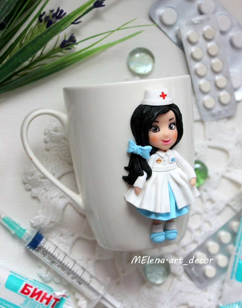 Handmade ceramic personalized mug as nurse gift Personalized Gifts for doctor