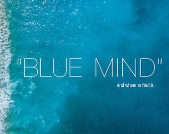 """Blue Mind Magnet: """"Blue Mind - An where to find it."""""""