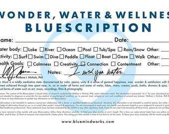 """Blue Mind Magnet: """"Bluescription"""""""