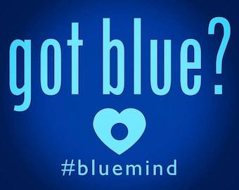 """Blue Mind Magnet: """"Got Blue?"""""""