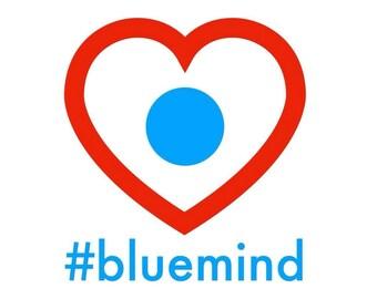 "Blue Mind Magnet: ""Blue Marble in Heart"""