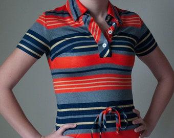 Youth Vintage 1960's Striped Mod Dress