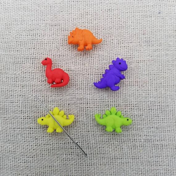 Magnetic Needle Holder Cute Dinosaur Polymer Clay Mini Needle Minder Needle Keeper