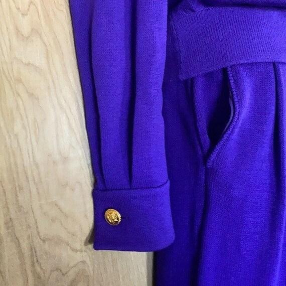 90s Vintage, St. John Knit Collection, Purple Gre… - image 7
