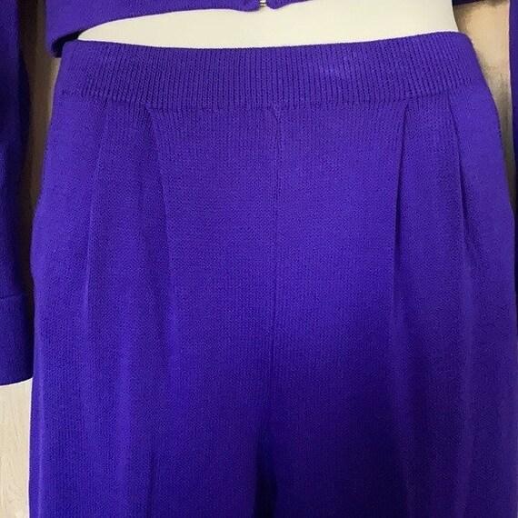 90s Vintage, St. John Knit Collection, Purple Gre… - image 6