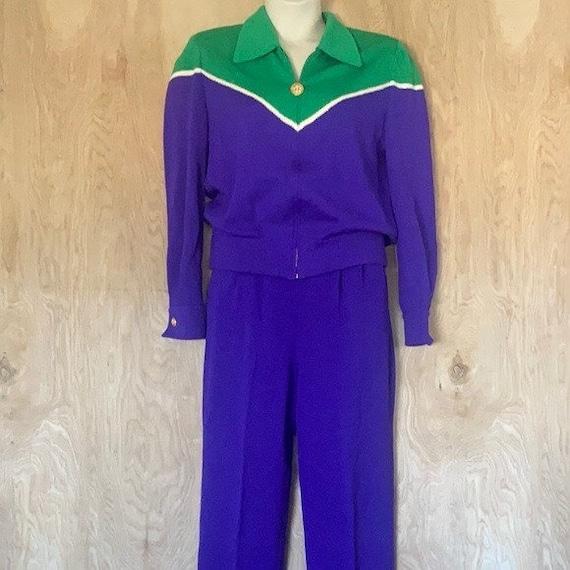 90s Vintage, St. John Knit Collection, Purple Gre… - image 2