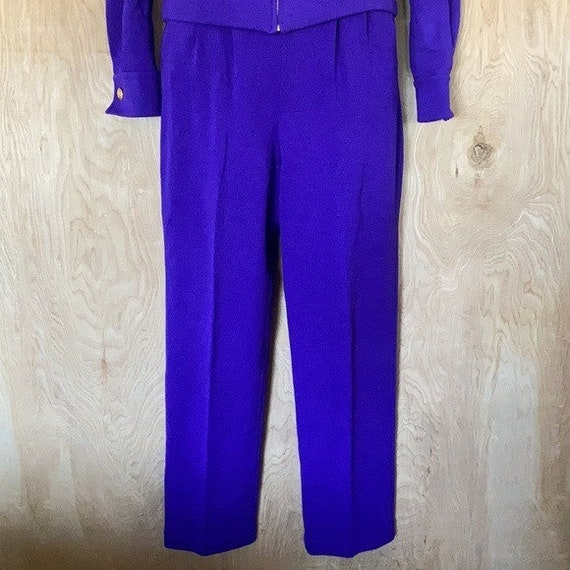 90s Vintage, St. John Knit Collection, Purple Gre… - image 4