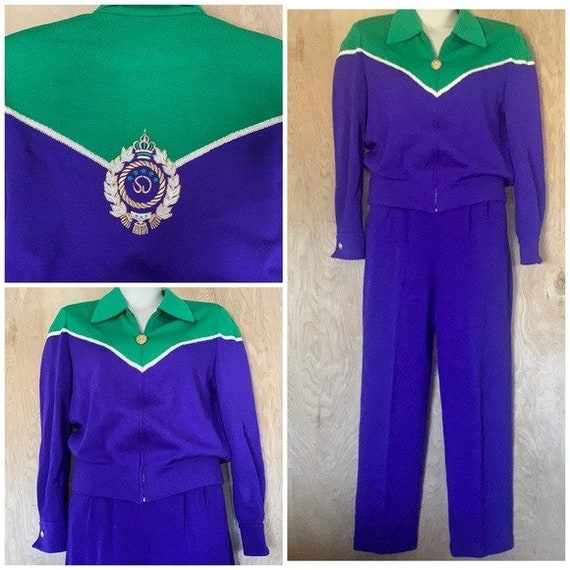 90s Vintage, St. John Knit Collection, Purple Gre… - image 1