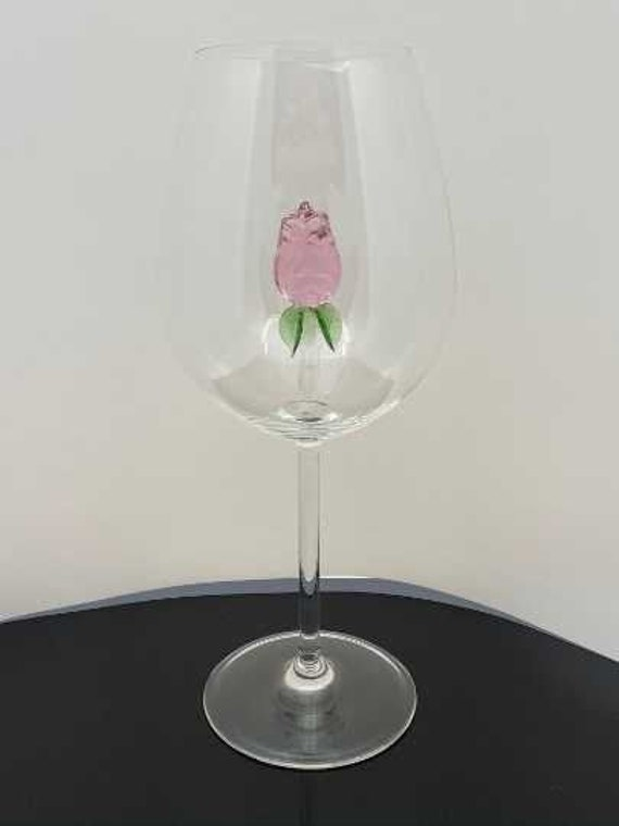 The 3D Stemless Rose Wine Glass™ Crystal HouseBeautifu Featured On Delish.com