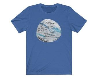 GalactaTours Tee - Ski Sawyer Ice Planet - Fun Souvenir from out of this world ski trip!