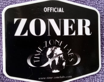 Time-ZoneLabs Zoner Fan Sticker - Stick on: WaterBottles-Luggage-Laptops-Cars-Cups-Notebooks-Mirrors-Windows-Phones-Clipboards-Lockers-etc.