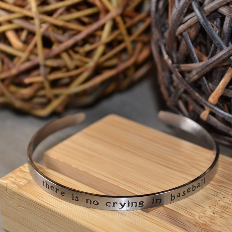 Baseball Cuff Bracelet There/'s No Crying In Baseball