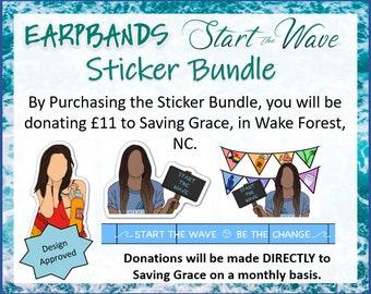 Start The Wave Sticker Bundle   Weatherproof   Dominique PC